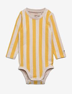 Body Block Stripe - long-sleeved - dark dusty yellow