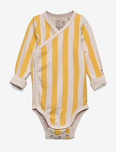 Body Wrap Block Stripe - bodies - dark dusty yellow