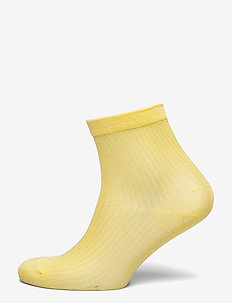 Sock low shiny rib - strømper - strongyellow
