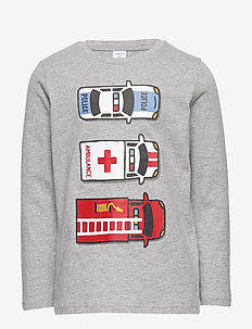Top LS Emergency placed - long-sleeved t-shirts - grey melange