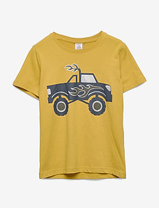 Top SS Monster truck - short-sleeved - dark dusty yellow