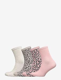 Sock 4 p Pink Leo - DUSTY PINK