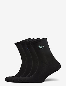 Sock 4 p Jaquard placement - skarpetki - black