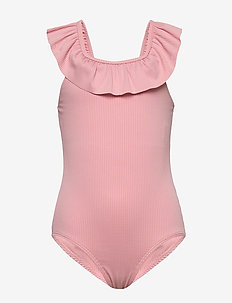 Swimsuit SG solid rib frill sh - maillots 1 pièce - light pink