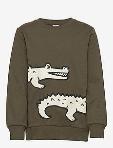 Sweater africa croco - dark green