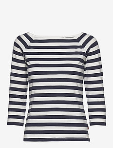 Top Blenda - striped t-shirts - navy