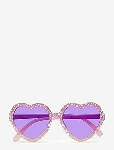 Sunglasses heart glitter - LIGHT LILAC