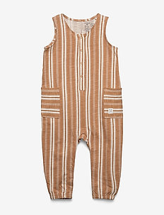 Jumpsuit stripe - jumpsuit - dusty brown