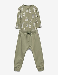 Set body trousers rabbit - sets - dusty green