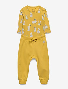 Set body trousers rabbit - zestawy - dusty yellow