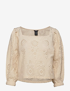 Blouse Ana anglais - crop tops - light beige