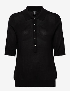 Poloshirt Ru - knitted tops & t-shirts - black