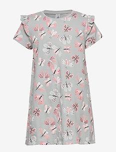 Top long s s butterflies - blouses & tunics - light grey