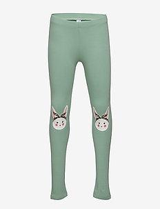 Leggings kneepatch rabbits - dusty green
