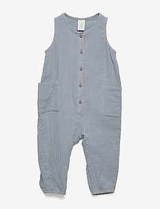 Jumpsuit woven double gauze - jumpsuit - dusty blue
