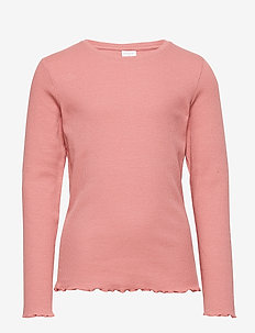 Top l s rib - DUSTY PINK