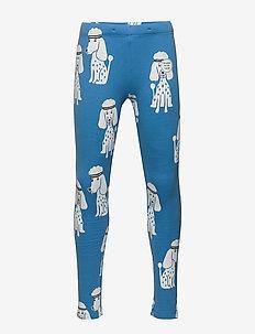 Leggings ALL KIDS poodles AOP - light dusty blue