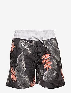 Swimshorts BB tropical flower - badebukser - dark grey