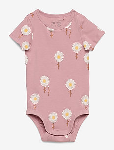 Body ss flowers - kortermede - dusty pink
