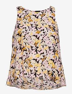 Blouse Daria  sleeveless - bluzki bez rękawów - light dusty yellow
