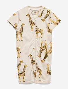 Pyjamas SS Giraffe - schlafoverall - light beige