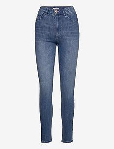 Denim trousers Vera mid blue - slim jeans - denim