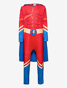 Pajama SK muscle suit Superher - sett - red