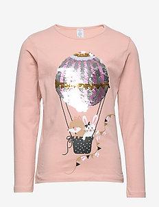 Top ballon flip sequins - DUSTY PINK