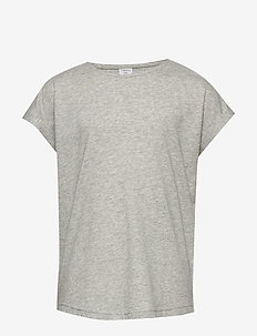Top Basic - korte mouwen - light grey melange