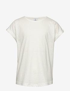 Top Basic - lyhythihaiset - off white