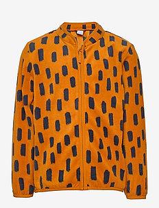 Fleece jacket AOP - fleeceklær - lt brown