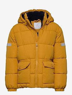 Jacket puffer - boblejakker og fôrede jakker - dark dusty yellow