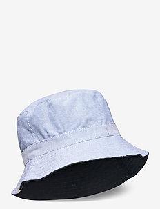 Hat  woven suncap chambray - chapeau de soleil - navy