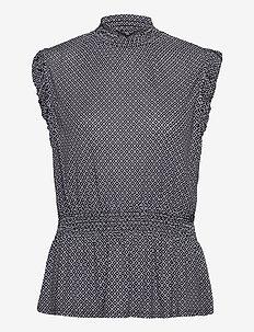 Top Zuri Print - blouses sans manches - dark blue