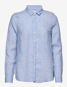 Shirt Becky Stripe - long-sleeved shirts - light blue