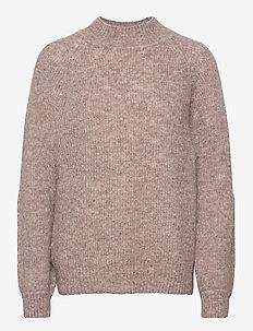 Sweater Linnea - jumpers - brown melange