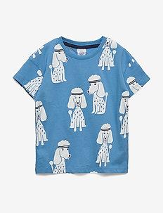 Top SS All KIDS Poodle aop - kortermede - light dusty blue