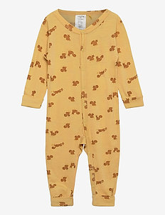 baby onesies print - langärmelig - yellow