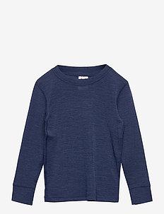 Top merino uni small solid FIX - bluzki - blue melange
