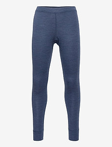 Long johns merino uni small so - leggings - blue melange
