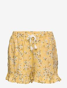 Shorts frill Viscose ao print - shorts - dusty yellow