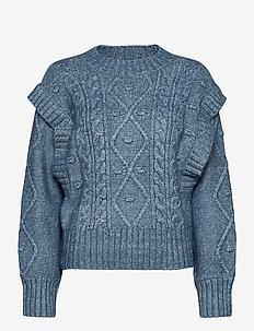 Sweater Helga - truien - blue melange