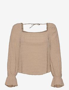 Blouse Donna - blouses med lange mouwen - beige