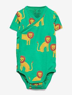 Body Wrap ss Lion aop - korte mouwen - light green
