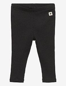 Leggings basic rib - leggings - off black