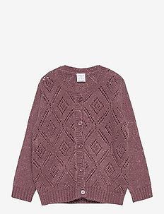 Cardigan patternknit scallop e - kardigany - dusty lilac