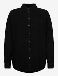 Roxy denim - overhemden met lange mouwen - black denim