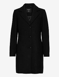 Coat Eva solid - wool coats - black