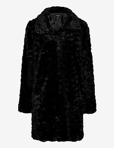 Coat Moa fur - fuskpäls - black