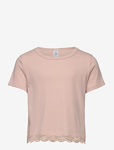 Top rib Mary - bluser & tunikaer - light dusty pink